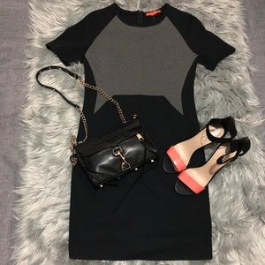 Black and Gray Dress